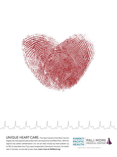 Hawaii Pacific Health - Thumbprint Ad
